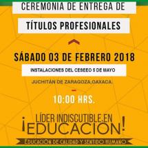 CEREMONIA DE ENTREGA DE TÍTULOS PROFESIONALES