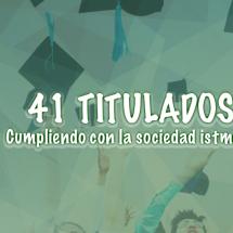 ENTREGA DE 41 PROFESIONALES A LA SOCIEDAD ISTMEÑA