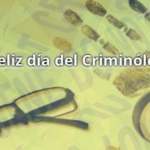 FELIZ DIA DEL CRIMINOLOGO