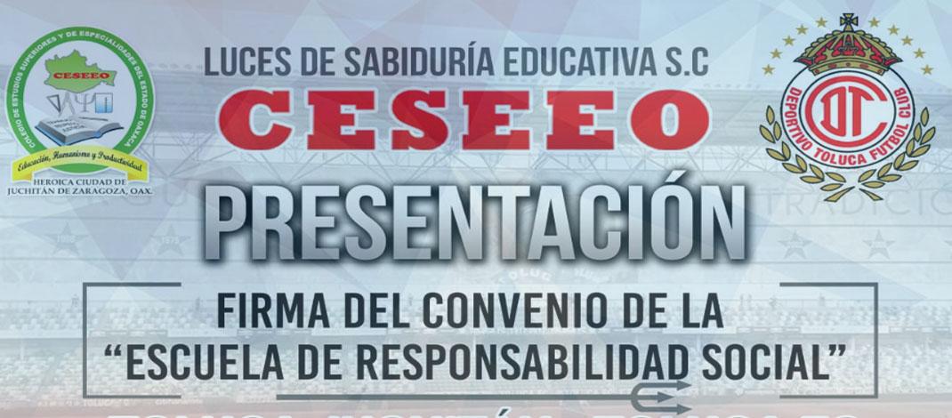 FIRMA DEL CONVENIO ESCUELA DE RESPONSABILIDAD SOCIAL