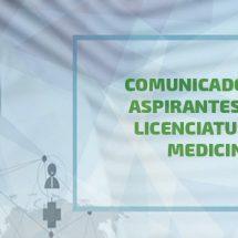COMUNICADO A ASPIRANTES DE MEDICINA